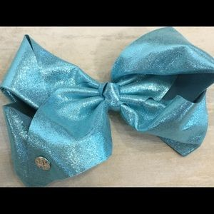 Silver And Blue Jojo Bow